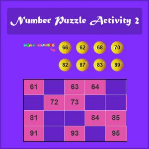 Key Stage One Number Puzzle Activity 2