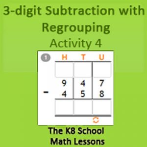 Key Stage Two 3 digit Subtraction with Regrouping Activity 4