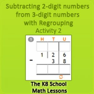 Subtraction 2-digit numbers from 3-digit numbers with Regrouping Activity 2 Subtraction 2-digit numbers from 3-digit numbers with Regrouping Activity 2