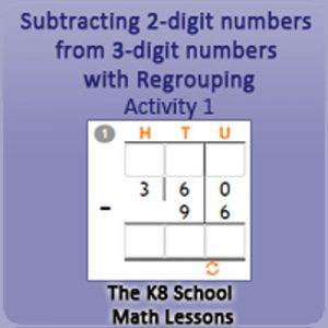 Subtraction 2 digit numbers from 3 digit numbers with Regrouping Activity 1 Subtraction 2 digit numbers from 3 digit numbers with Regrouping Activity 1