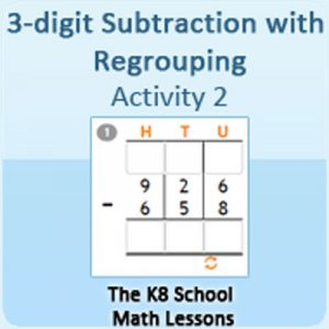 3 digit Subtraction with Regrouping Activity 2 3 digit Subtraction with Regrouping Activity 2