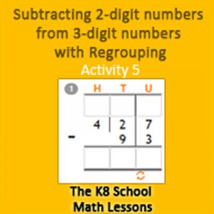 Subtraction 2-digit numbers from 3-digit numbers with Regrouping Activity 5 Subtraction 2-digit numbers from 3-digit numbers with Regrouping Activity 5