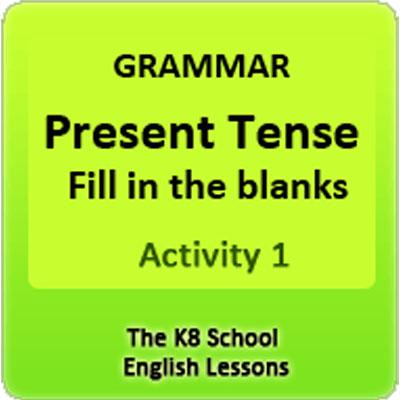 Examples of Simple Present Tense Activity 1 | 2nd Grade Grammar