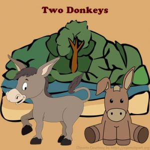 Subject and Predicate of a Sentence English Comprehension Skills Activity 1 – Two Donkeys