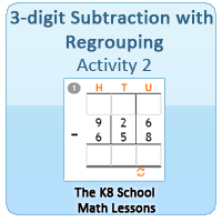 Mathematics 3-digit Subtraction with Regrouping – Activity 2