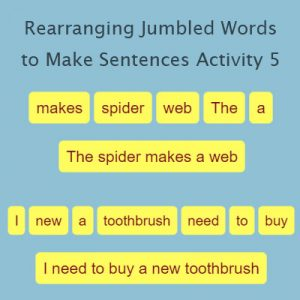 Key Stage One Rearranging Jumbled Words to Make Sentences Activity 5