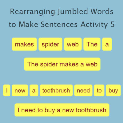 Rearranging Jumbled Words to Make Sentences Activity 5 | Grammar