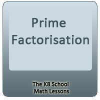 Prime Factorisation Prime Factorisation
