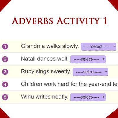 Adverbs Activity 1