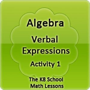 Key Stage Two Algebra Verbal Expressions Activity 1