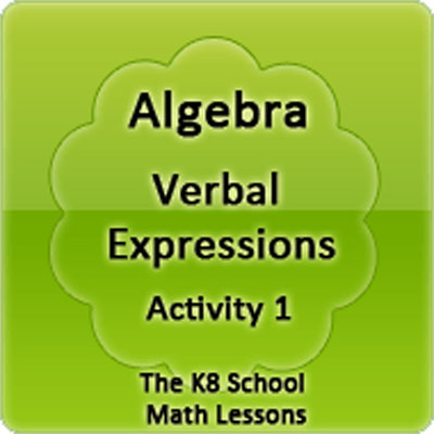 Algebra Verbal Expressions Activity 1