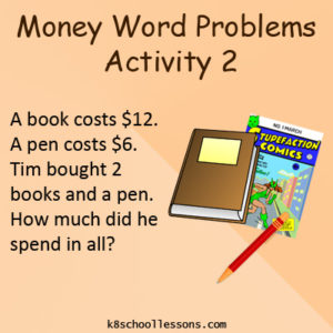 Money Word Problems Activity 2 Money Word Problems Activity 2
