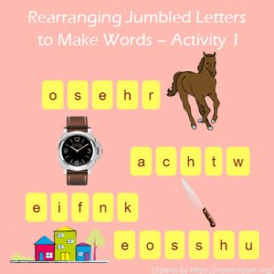 Key Stage One Rearranging Jumbled Letters to  Make Words Activity 1