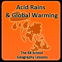 acid rains air pollution global warming greenhouse effect