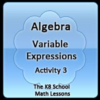 Proverbs Quiz 4 Algebra – Variable Expressions – Activity 3