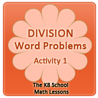 Key Stage One Division Word Problems – Activity 1