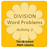 Missing Addend Worksheet 5 Division Word Problems – Activity 2