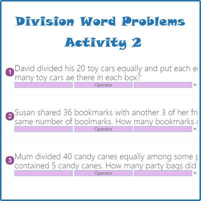 division word problems activity 2 division word problems worksheets. Black Bedroom Furniture Sets. Home Design Ideas