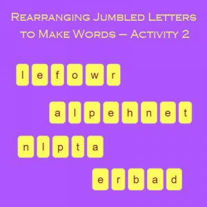 rearranging jumbled letters