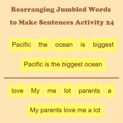 Rearrange Sentences For Class 7 With Answers