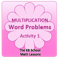 Multiplication Word Problems – Activity 1 Multiplication Word Problems – Activity 1