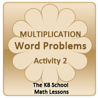 Subject and Predicate of a Sentence Multiplication Word Problems – Activity 2