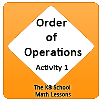 Mathematics Order of operations – Activity 1