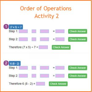 Finding the Perimeter Activity 1 Order of Operations Activity 2