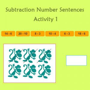 Subtraction Number Sentences Activity 1