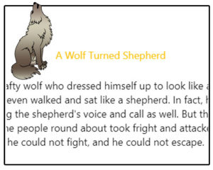 Subject and Predicate of a Sentence English Comprehension Skills Activity 7 – A Wolf Turned Shepherd