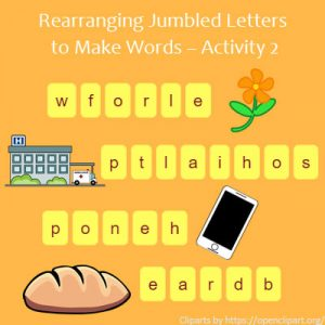 Key Stage One Rearranging Jumbled Letters to Make Words Activity 2
