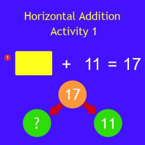 Horizontal Addition Activity 1 Horizontal Addition Activity 1