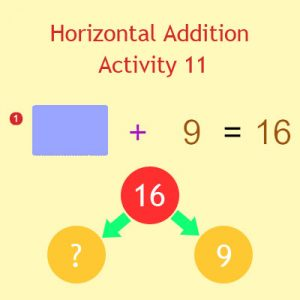 Horizontal Addition Activity 11