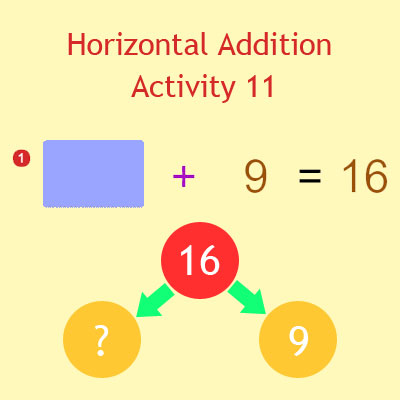 Horizontal Addition Activity 11