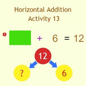Horizontal Addition Activity 13
