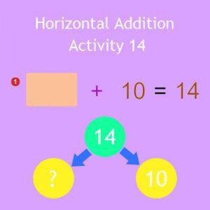 Horizontal Addition Activity 14