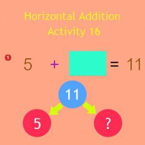 Horizontal Addition Activity 16