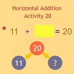 Horizontal Addition Activity 20