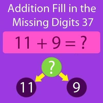 Addition Fill in the Missing Digits 37