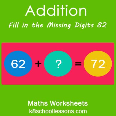 Addition Fill in the Missing Digits 82