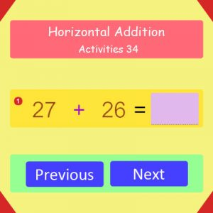 Horizontal Addition Activities 34 Horizontal Addition Activities 34
