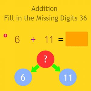 Addition Fill in the Missing Digits 36