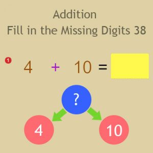 Addition Fill in the Missing Digits 38