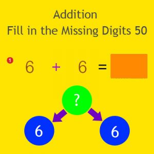 Addition Fill in the Missing Digits 50 Addition Fill in the Missing Digits 50
