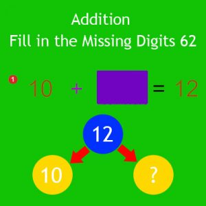 Addition Fill in the Missing Digits 62 Addition Fill in the Missing Digits 62