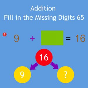 Addition Fill in the Missing Digits 65