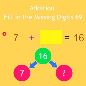 Addition Fill in the Missing Digits 69