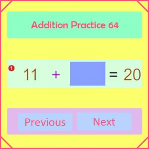 Addition Practice Activity 64 Addition Practice Activity 64
