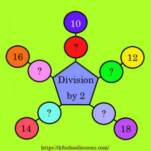 Key Stage One Division by 2 Activity 2