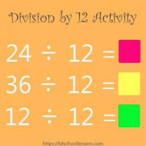 Division by 12 Activity Division by 12 Activity